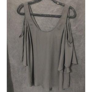 Torrid cold shoulder black blouse
